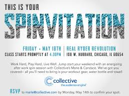 Class Party Invitation Britta Hoskins Spin Class Pilates Party Invites
