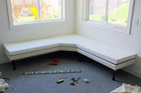diy upholstered built in bench part 1