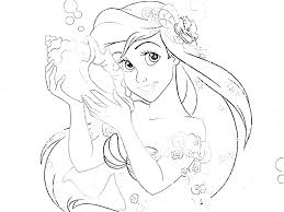 Princess Printable Coloring Pages Also Feat Free Colouring Disney