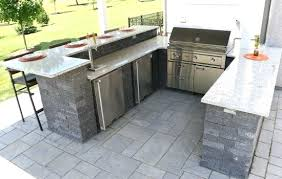 bloc outdoor kitchen with raised bar seating grill fridge trash and freezer kitchens grills outdoor kitchen fridge