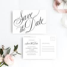 Classic Elegant Save The Date Postcard Printable Template Save The Date Postcard Printable Template Diy Save The Date Postcard Template