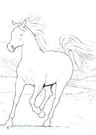 Realistic Horse Coloring Pages Coloring Horse Pages Horse And