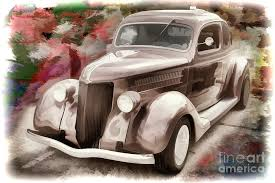 1936 ford painting 1936 ford classic car painting or automobile in color 3122 02 by m k