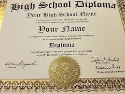 High School Deploma High School Diploma W Gold Seal Newest Edition For 2018 Gag Gift