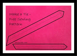 Tie Sewing Pattern