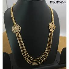 gold plated finish 3 5 lines design chain with cz ruby stones flowers