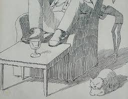 Original Pen Drawing Fairies Charles Altamont Doyle Sherlock Holmes  Connection | #291137463