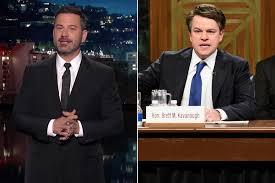 Jimmy Kimmel teases Matt Damon for Brett Kavanaugh SNL impression
