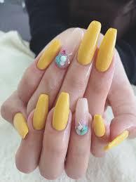 黄色が可愛い 夏ネイル フロール黒崎店小倉店北九州市黒崎小倉の