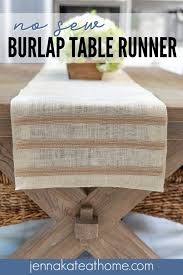 diy no sew burlap table runner for fall