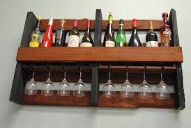 custom made wall mounted pallet wine rack