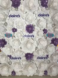 Paper Flower Wall Rental Purple And White Paper Flower Wall In Step And Repeat Design