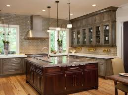 distressed grey kitchen cabinets