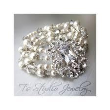 earrings set pearl and crystal bridal cuff wedding bracelet