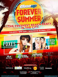 close up forever summer beach party in the