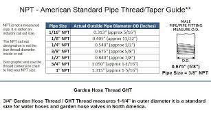 3 8 male npt pipe to 3 4 male garden