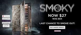 last chance to get the urban decay smoky palette at 50 off while supplies last curly available at 5 s