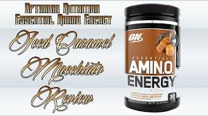 optimum nutrition essential amino energy cafe series iced caramel macchiato review