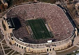 University Of Notre Dame Football Stadium Seating Chart Blue Gold Game Seating Parking And Ticket Information