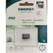 Thẻ nhớ Kingmax Micro SD Pro 32G Class 10, chuyên camera wifi - Thẻ nhớ máy  ảnh