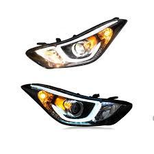 2012 Hyundai Elantra Running Light Bulb Amazon Com 2pcs Headlight Assemblies For Hyundai Elantra