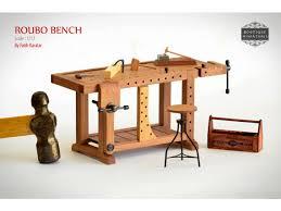 miniature dollhouse furniture woodworking. miniature roubo bench scandinavian workbench by boutiqueminiatures dollhouse designdollhouse furnituretiny furniture woodworking s