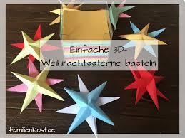 3d Sterne Basteln Mit Kindern Aus Papier Anleitung