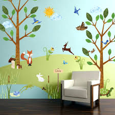 glue for wall decals forest friends wall stencil kit for kids rooms forest  friends wall decal