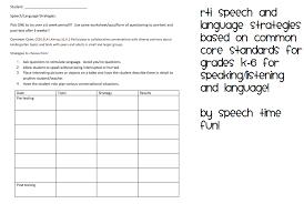 Speech/Language RTI Strategies for Common Core Standards