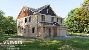 Exterior Architecture Design Software 3d Rendering Of The Architectural Design