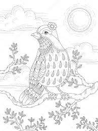 素敵な女性鳥大人ぬりえページ ストックベクター Kchungtw 107568866