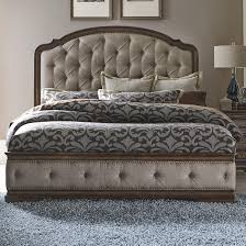 liberty furniture amelia traditional king upholstered bed with