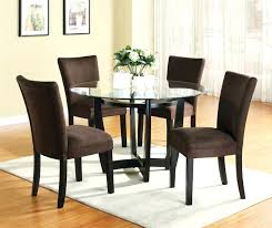 5 piece dinette set with round glass table top in cappuccino finish by coaster