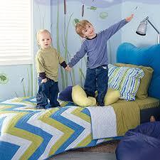 kids on bed