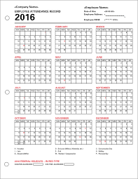 Attendance Tracker Free Example Of Employee Attendance Tracking Spreadsheet Calendar Tracker