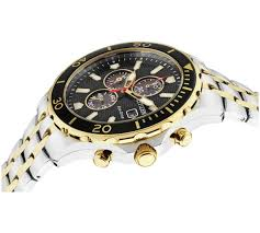 buy citizen men s eco drive 2 tone black chronograph watch at loading