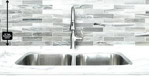 dark gray kitchen backsplash modern gray white some brown color mixed subway marble kitchen tile from