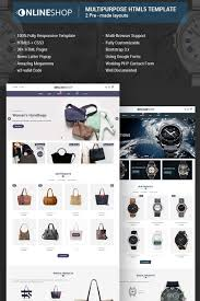 Onlineshop Responsive Multipurpose E Commerce Html5 Website Template