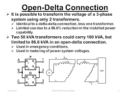 lecture 11electro mechanical system1 delta delta connection open delta connection of transformer pdf at Open Delta Transformer Connection Diagram