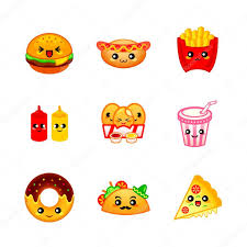 Cite Fast Food Icons Stock Vector Sahuad 85837726