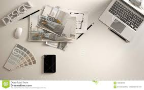 White work desk Office Furniture Architect Designer Concept White Work Desk With Computer Paper Draft Bedroom Project Images Dreamstimecom Architect Designer Concept White Work Desk With Computer Paper
