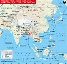 Map of india locating the major earthquake locations and their intensity in richter scale and the year in which the earthquake has taken place. Areas Affected By Earthquake In India Bihar West Bengal Assam Map In News