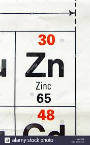 The Element Zinc Zn As Seen On A Periodic Table Chart As