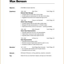 Resume Formatting Guidelines Formats In Word Document Examples