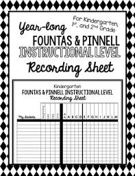 Fountas And Pinnell Instructional Level Expectations For Reading Chart Year Long Fountas Pinnell Instructional Reading Level Recording Sheet