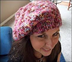 Free Slouch Hat Knitting Patterns Fascinating CrazyAuntPurl Supersimple Fast And Easy Chunky Handknit Beret