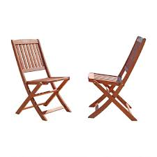 outdoor folding dining chairs. Simple Outdoor Vifah Malibu Folding Wood Outdoor Dining Chair 2Pack With Chairs Home Depot
