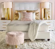 rose gold and black living room decor