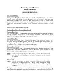 Home Health Care Job Description For Resume Resume Home Health Aide Job Description Resume Examples