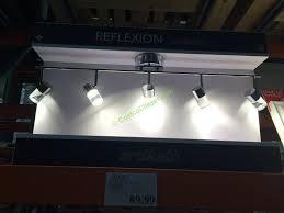 costco 707367 reflexion 5 light led track fixture